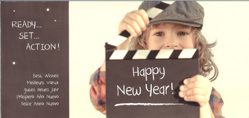 « Clap Happy New Year »avec enfant . 5 langues
