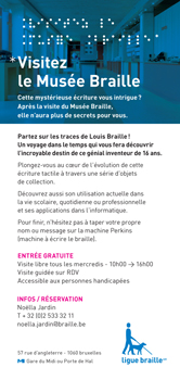 Couverture De La Brochure Visite Guide Du Muse Braille Et Des Locaux Ligue