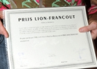 Close-up certificat Prix Lion-Francout.