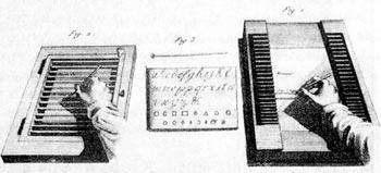 Illustration de 2 modèles de planches à écrire
